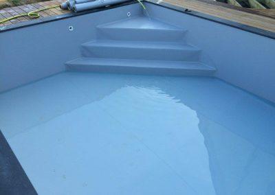 rénovation liner piscine abimé