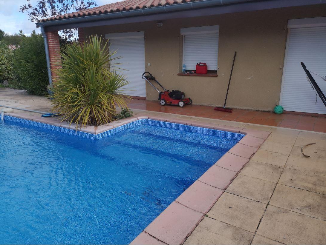 liner piscine imprime