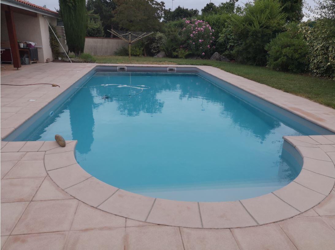 remplacement liner piscine gris clair